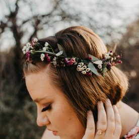 A delicate flower crown.